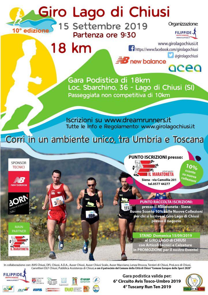Il Maratoneta Calendario.Giro Del Lago Di Chiusi